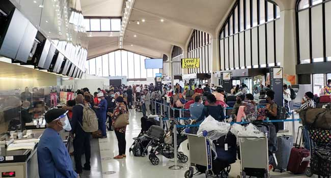 324 Nigerians Evacuated From The US Arrive Abuja