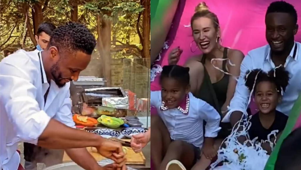 John Mikel Obi And His Partner Olga Celebrate There Twin Daughters' 5th Birthday Party