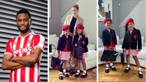 Picture Of Mikel Obi's Daughters In Their School Uniform On First Day Of School