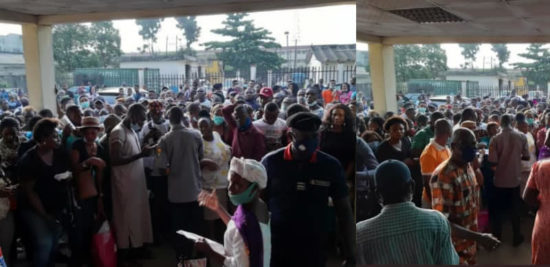 Large Crowds Defy COVID-19 Restrictions, Storm NIMC For National Identification Number.